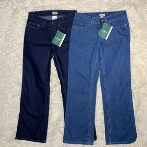 LL BEAN | Slimming Straight Leg Jeans 2 Pairs